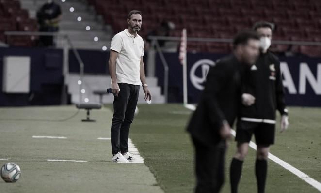"""Vicente Moreno: """"El equipo ha hecho un gran esfuerzo y ha dado la cara"""""""