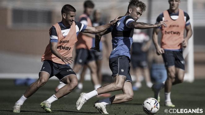 Los futbolistas del Leganés durante un entrenamiento | Foto: CD Leganés