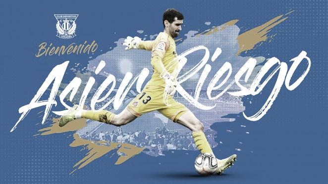 Asier Riesgo es el nuevo portero del CD Leganés | Foto: CD Leganés