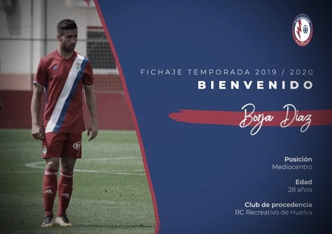 Borja Díaz, nuevo refuerzo para el centro del campo del CF Rayo Majadahonda