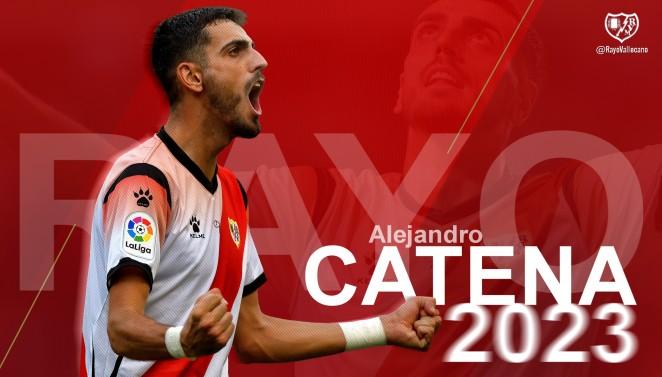 Catena será jugador franjirrojo hasta junio de 2023