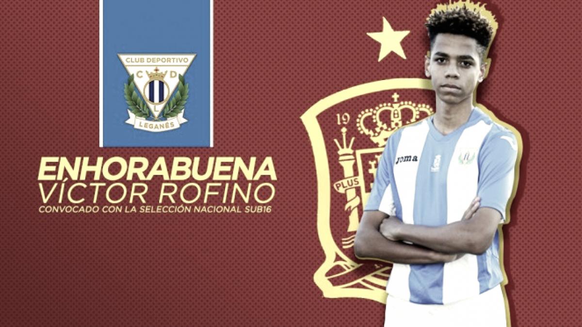 Victor Rofino, del Cadete A del Leganés, convocado con la Selección Española Sub-16