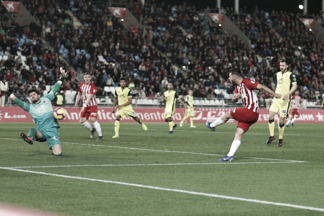 UD Almería-CD Numancia. Puntuaciones de la UD Almería de la vigésimo quinta jornada de LaLiga 123