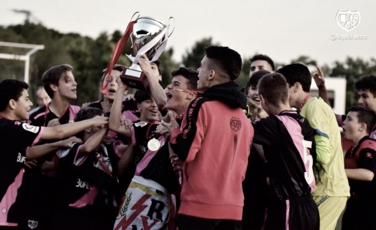 El Infantil A del Rayo Vallecano, ganador de la Copa de Campeones