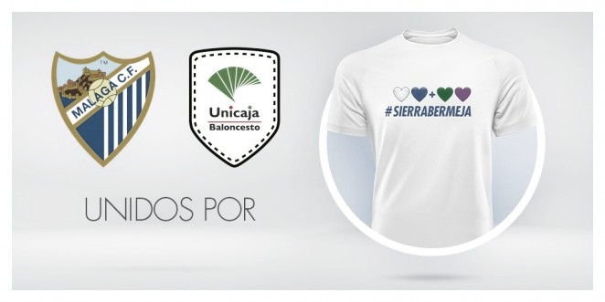 Málaga CF y Unicaja Baloncesto se unen por Sierra Bermeja