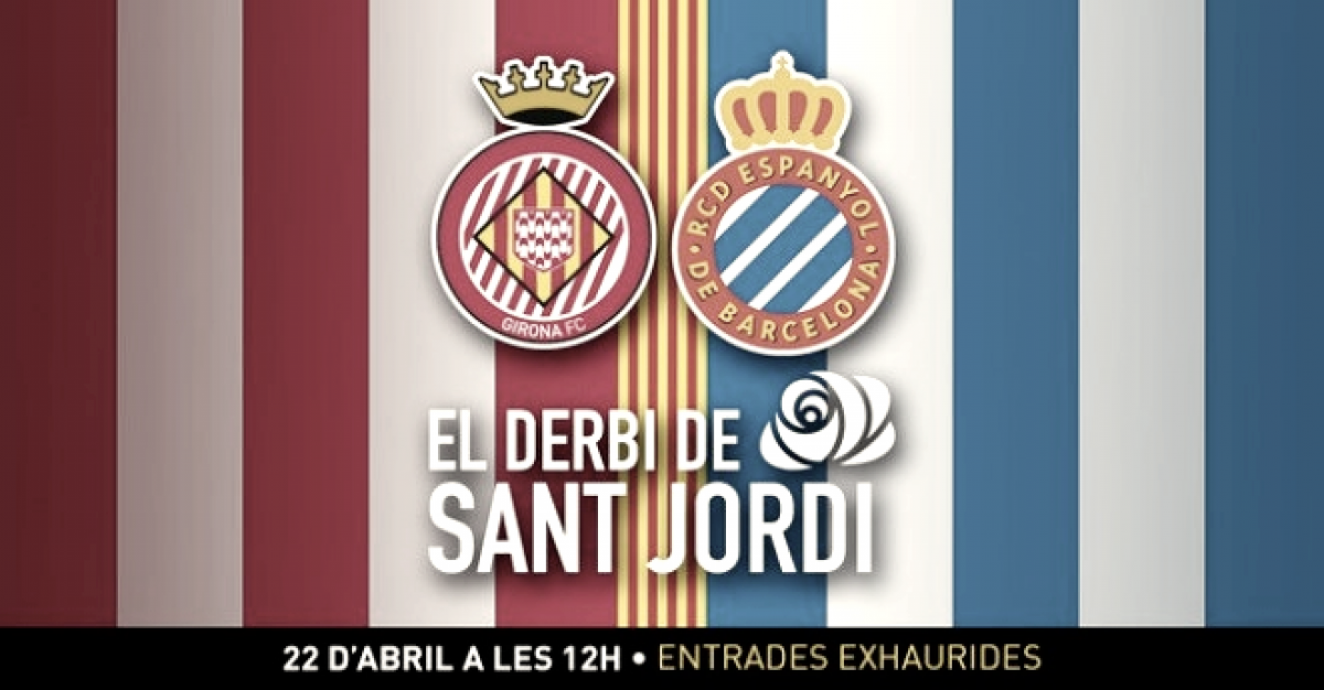 Girona y Espanyol anuncian el 'Derbi de Sant Jordi'