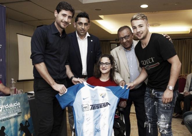 Solidaridad del Málaga CF con Sarah Almagro