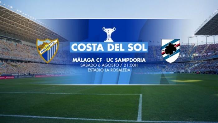 Málaga CF - Sampdoria: en juego el trofeo de los malaguistas