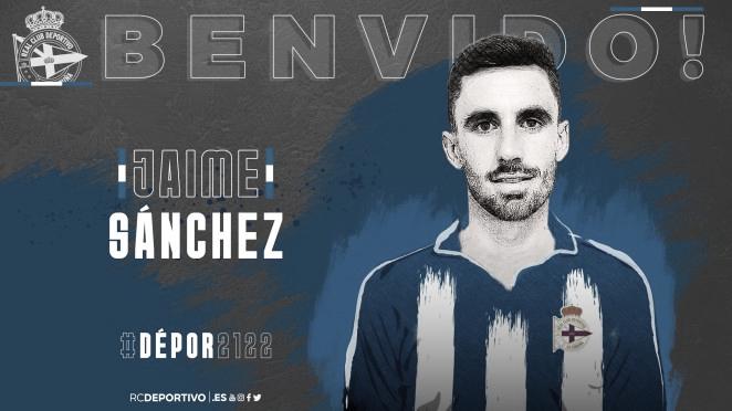 Jaime Sánchez, nuevo jugador del Dépor
