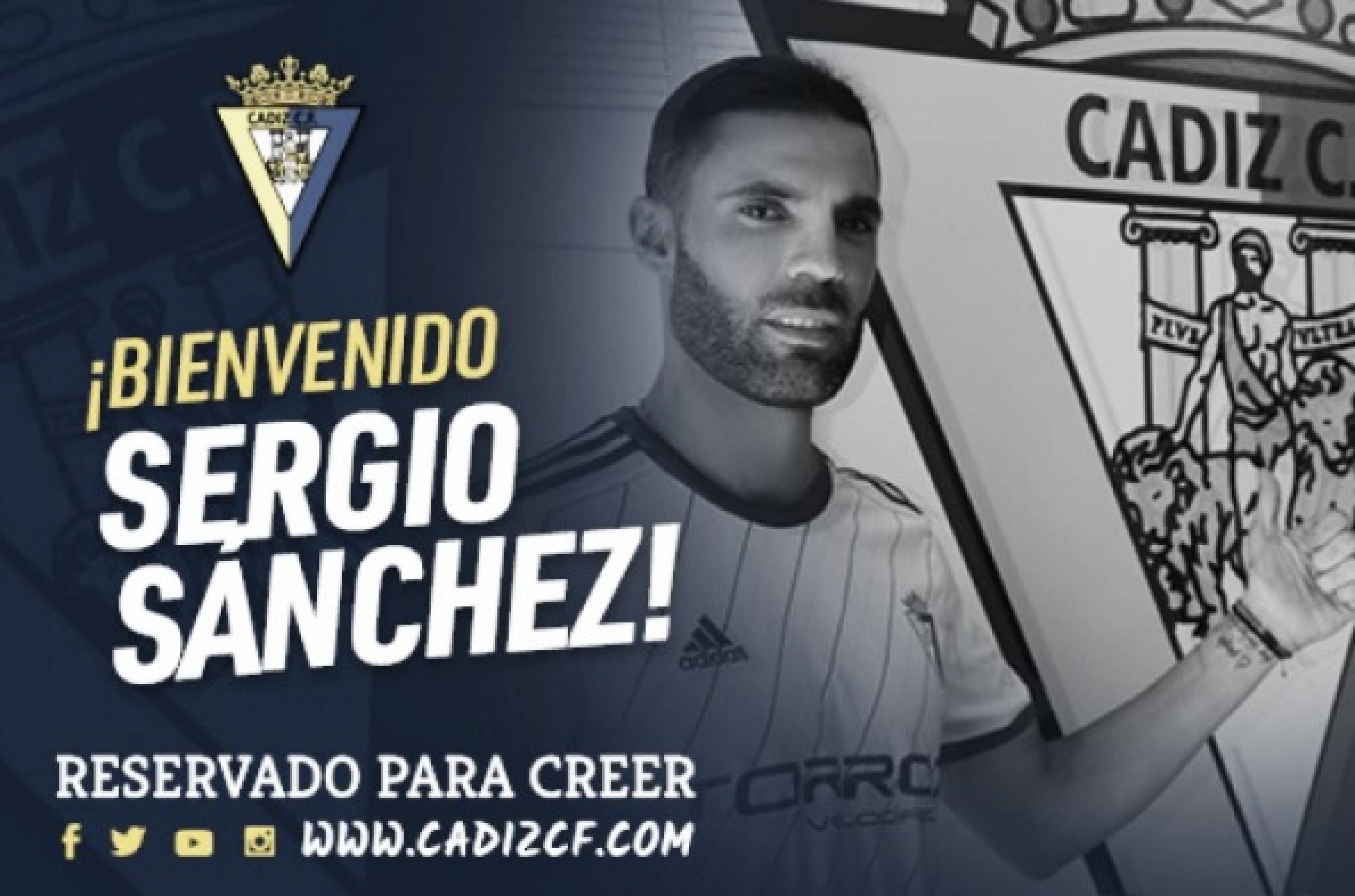El Cádiz oficializa el fichaje de Sergio Sánchez