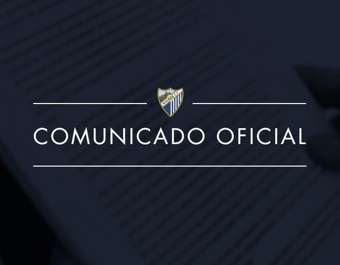 Comunicado oficial del Málaga CF./ Foto: Málaga CF