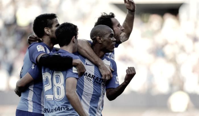 El Málaga iguala a 3 antiguos equipos de la Liga en 7 jornadas