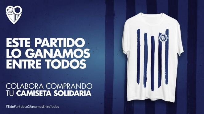 La camiseta blanquiazul más solidaria