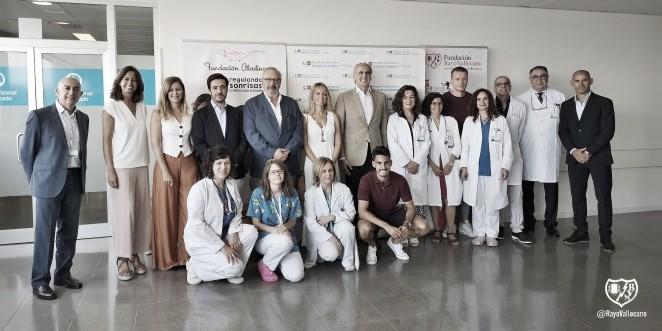 La Fundación Rayo Vallecano colabora con el Hospital Infanta Leonor en su nueva sala de neonatología