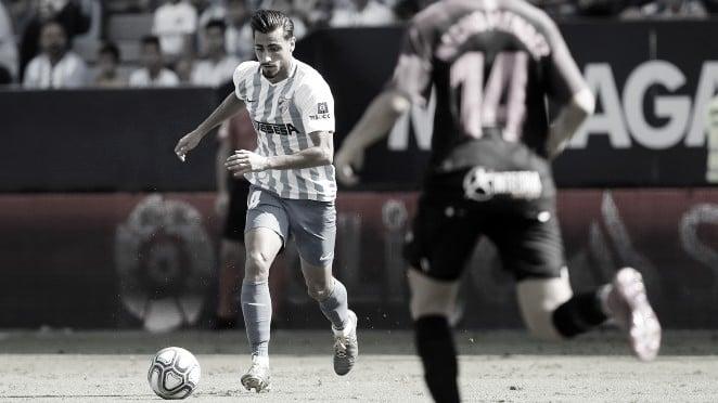 Luis Muñoz en el encuentro de la pasada temporada entre el Málaga CF y Real Sporting. / Foto: Málaga CF