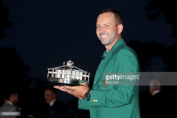 Sergio Garcia breaks major duck, claiming Masters title following thrilling duel with Justin Rose