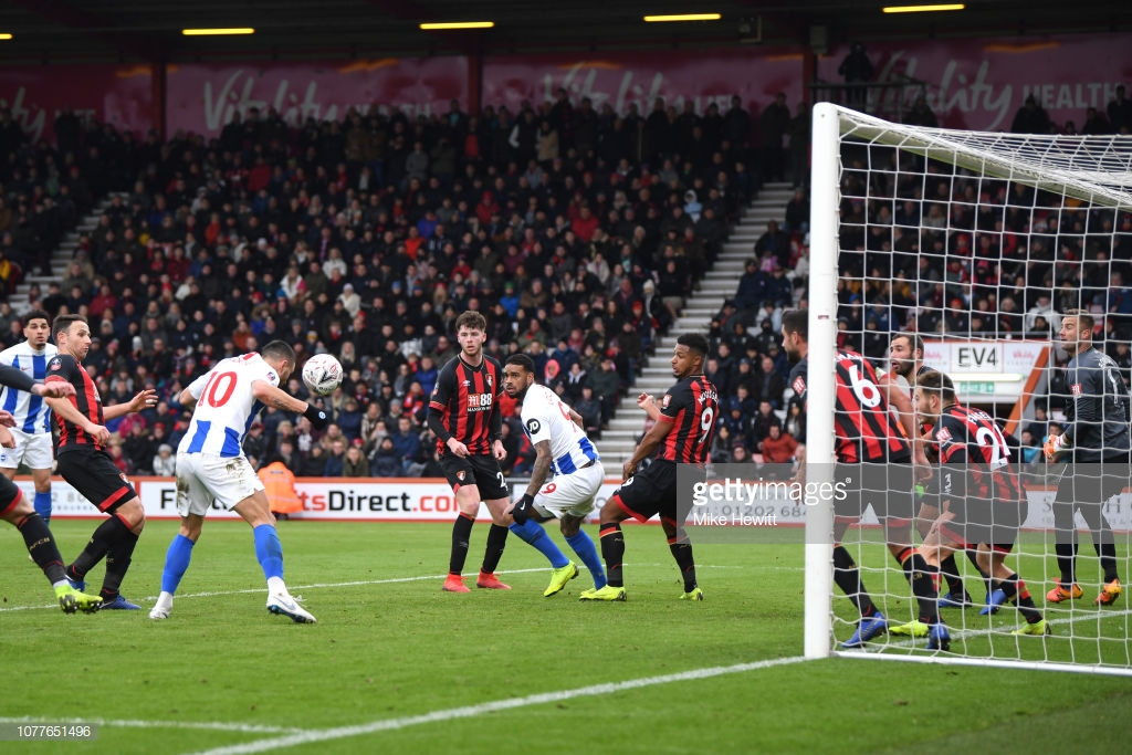 Bournemouth 1-3 Brighton &Hove Albion: Seagulls score three goals away from home for the first time in 15 months