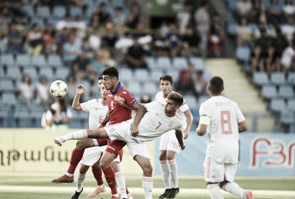 Armenia 1-4 España: brillante estreno de la sub-19