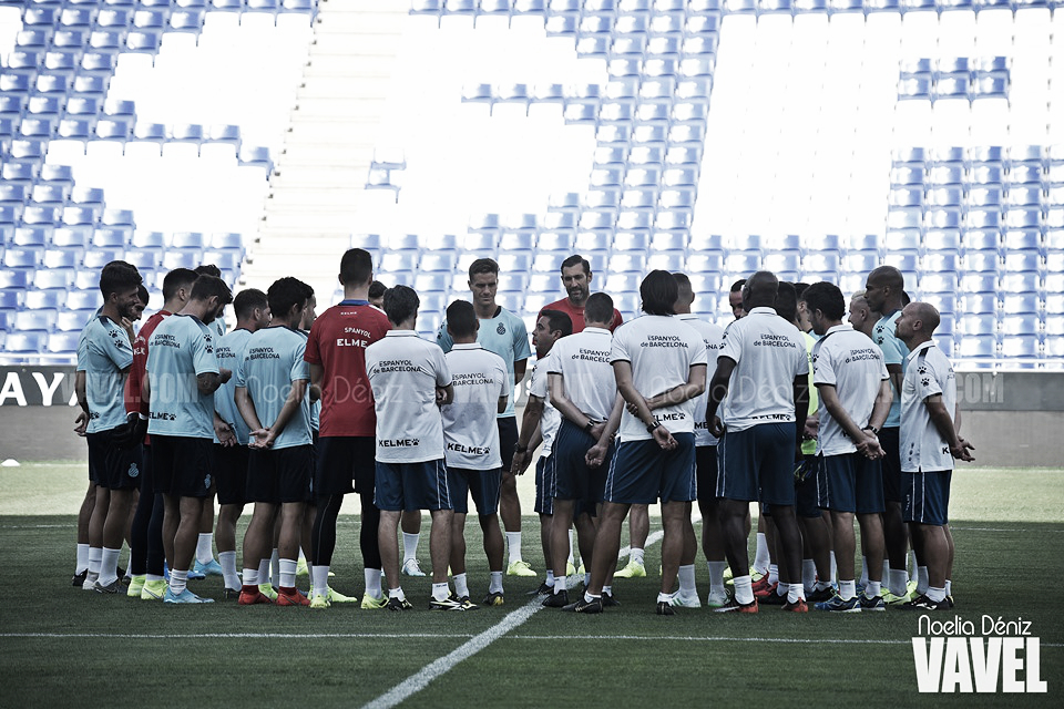 Último entrenamiento del RCD Espanyol antes de la cita europea