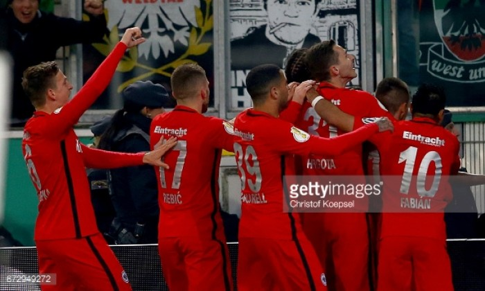 Borussia Mönchengladbach (7) 1-1 (6) Eintracht Frankfurt: Hrgota haunts former side to send Eagles to Berlin