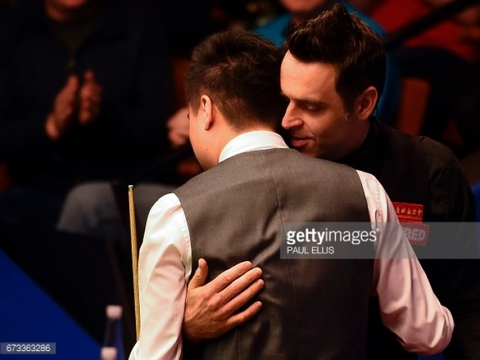 """Ding Junhui holds his nerve for """"greatest win of career"""" against idol Ronnie O'Sullivan"""