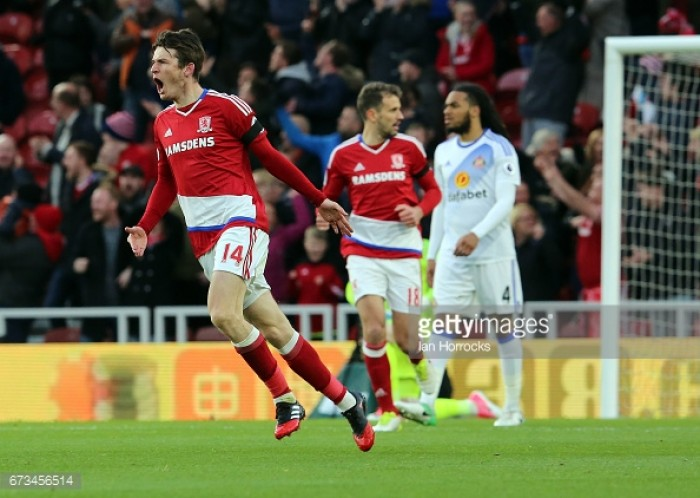 Middlesbrough 1-0 Sunderland: De Roon hands Boro a lifeline in heated derby win
