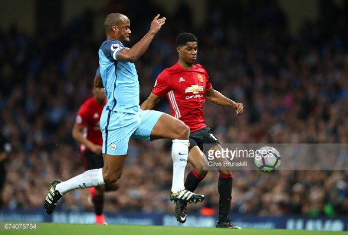 Vicent Kompany admits that overseas Manchester derby will have a certain edge
