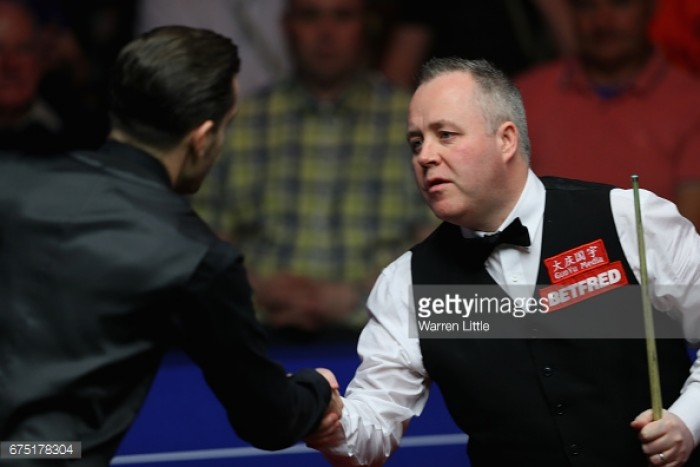 Mark Selby 7-10 John Higgins: Four-time champion leads but World number one compiles late response