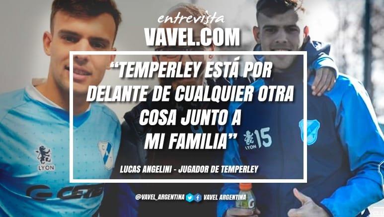"""Entrevista. Lucas Angelini: """"Jugar en Temperley es un sueño, todavía no caigo en el lugar que estoy parado"""""""