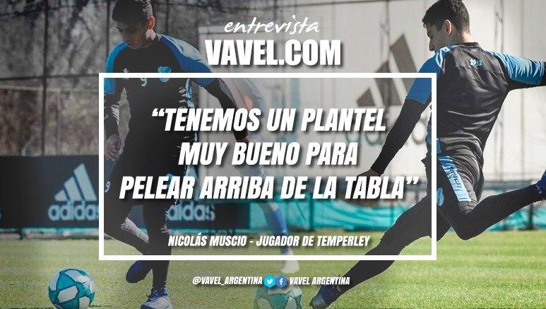 """Entrevista. Nicolás Muscio: """"Sabía que Temperley es un club muy pasional y que lleva mucha gente"""""""