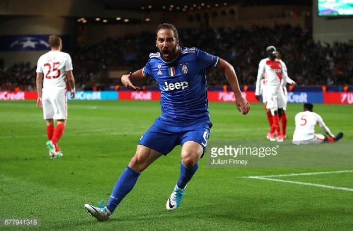 AS Monaco 0-2 Juventus: Higuain double gifts Juventus big advantage against Monaco's millennials