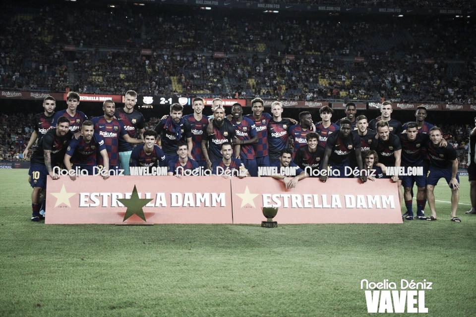 Victoria del FC Barcelona ante el Arsenal en el Trofeo Joan Gamper