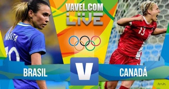 Risultato Brasile 1-2 Canada in finale terzo/quarto di Calcio femminile Rio 2016