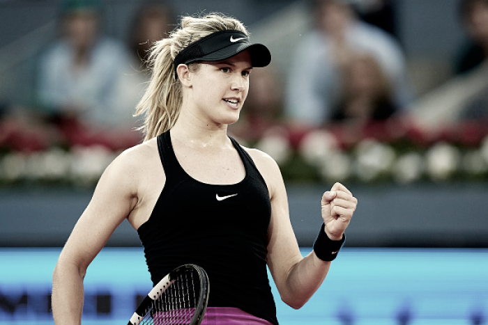 WTA Madrid: Eugenie Bouchard into the quarterfinals after Angelique Kerber retires