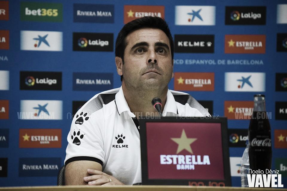 """David Gallego: """"No me cabe en la cabeza que mi equipo se relaje"""""""