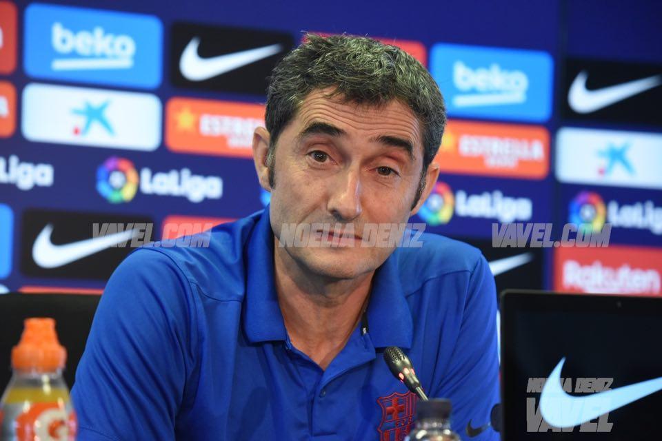 """Ernesto Valverde: """"No vamos a arriesgar, menos con Leo Messi"""""""