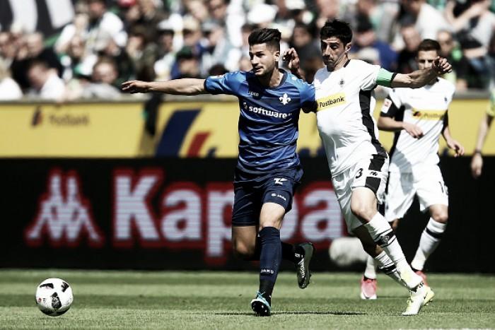Na despedida da temporada, Darmstadt busca empate duas vezes contra Mönchengladbach