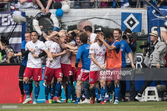 Hamburger SV 2-1 VfL Wolfsburg: Waldschmidt's late winner leaves Wolves with relegation playoff match