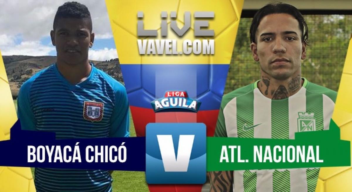 Boyacá Chicó y Atlético Nacional dividieron honores en la fría Tunja