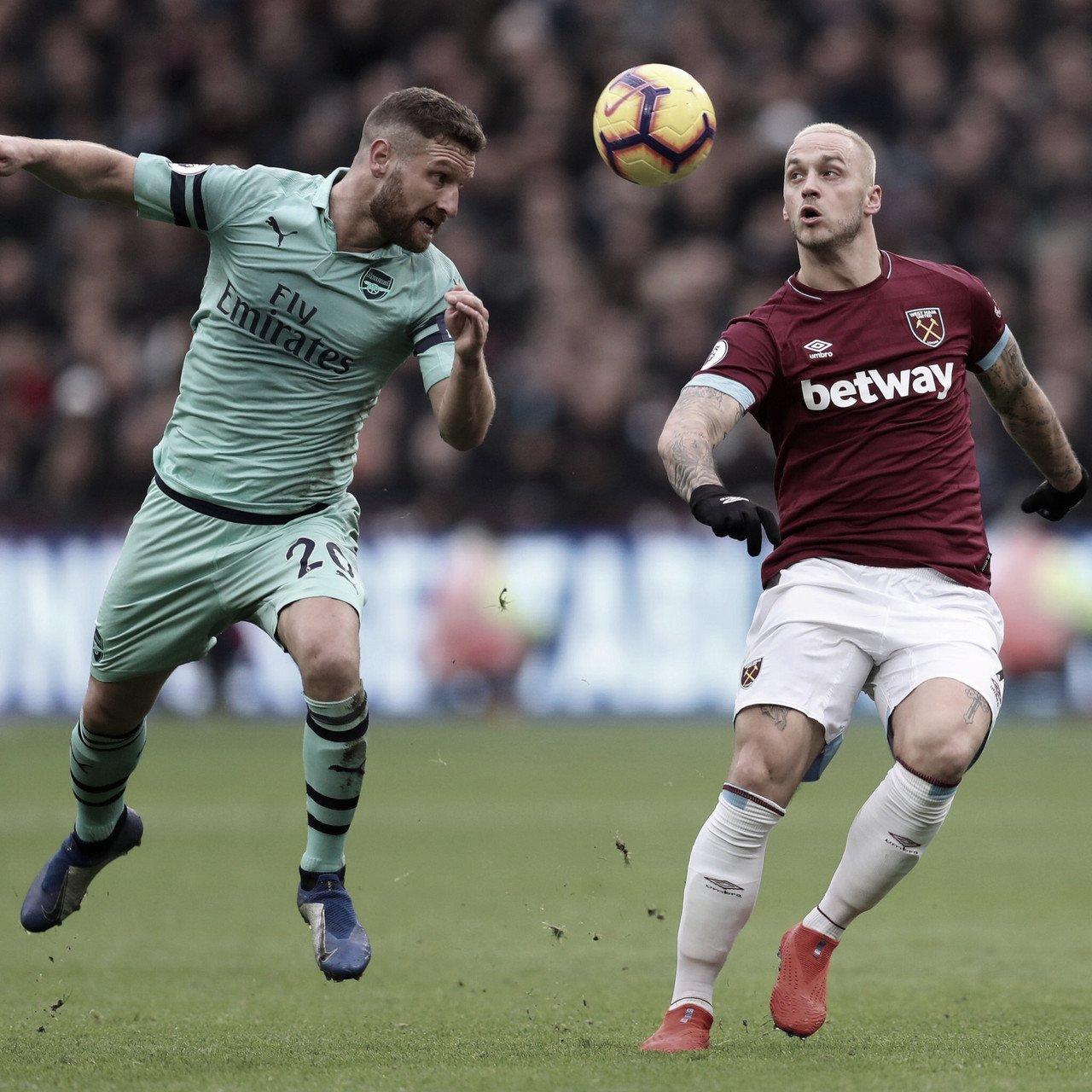 Em jogo truncado, West Ham derrota Arsenal pela Premier League