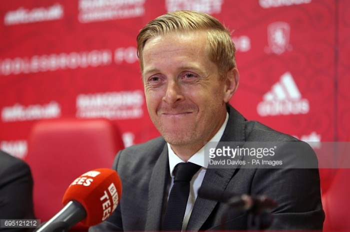 Garry Monk identifies promotion as the target as he is unveiled as Middlesbrough manager