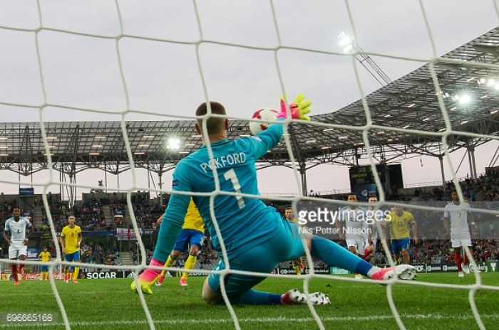 England U21 0-0 Sweden U21: Pickford penalty save keeps the defending champions at bay