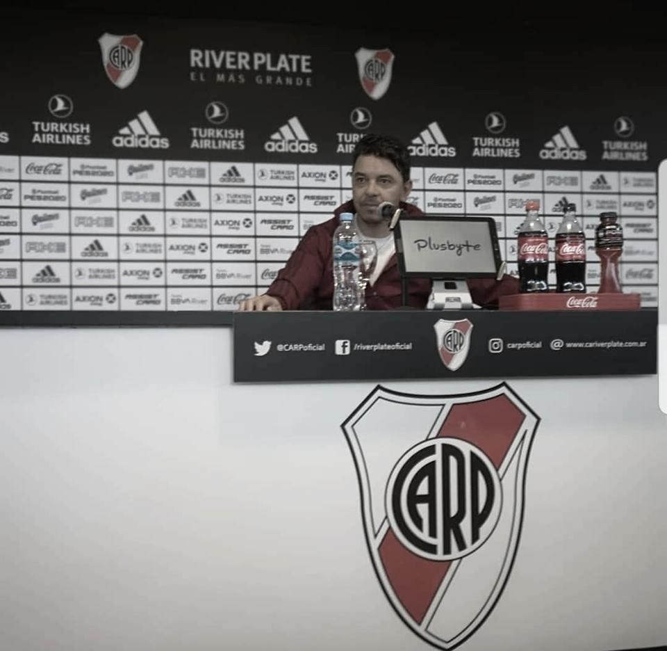 """Marcelo Gallardo: """"No sé de donde salió que pedí que mis jugadores no sean titulares en Argentina"""""""