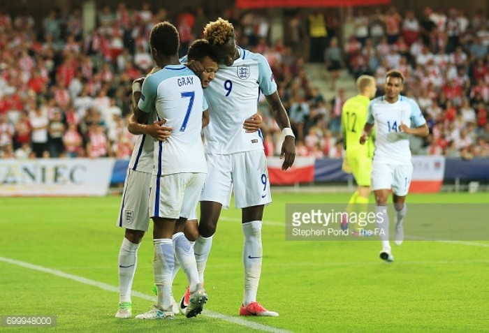 England U21 3-0 Poland U21: Three Lions ease into semi-finals with routine victory over ten-man hosts