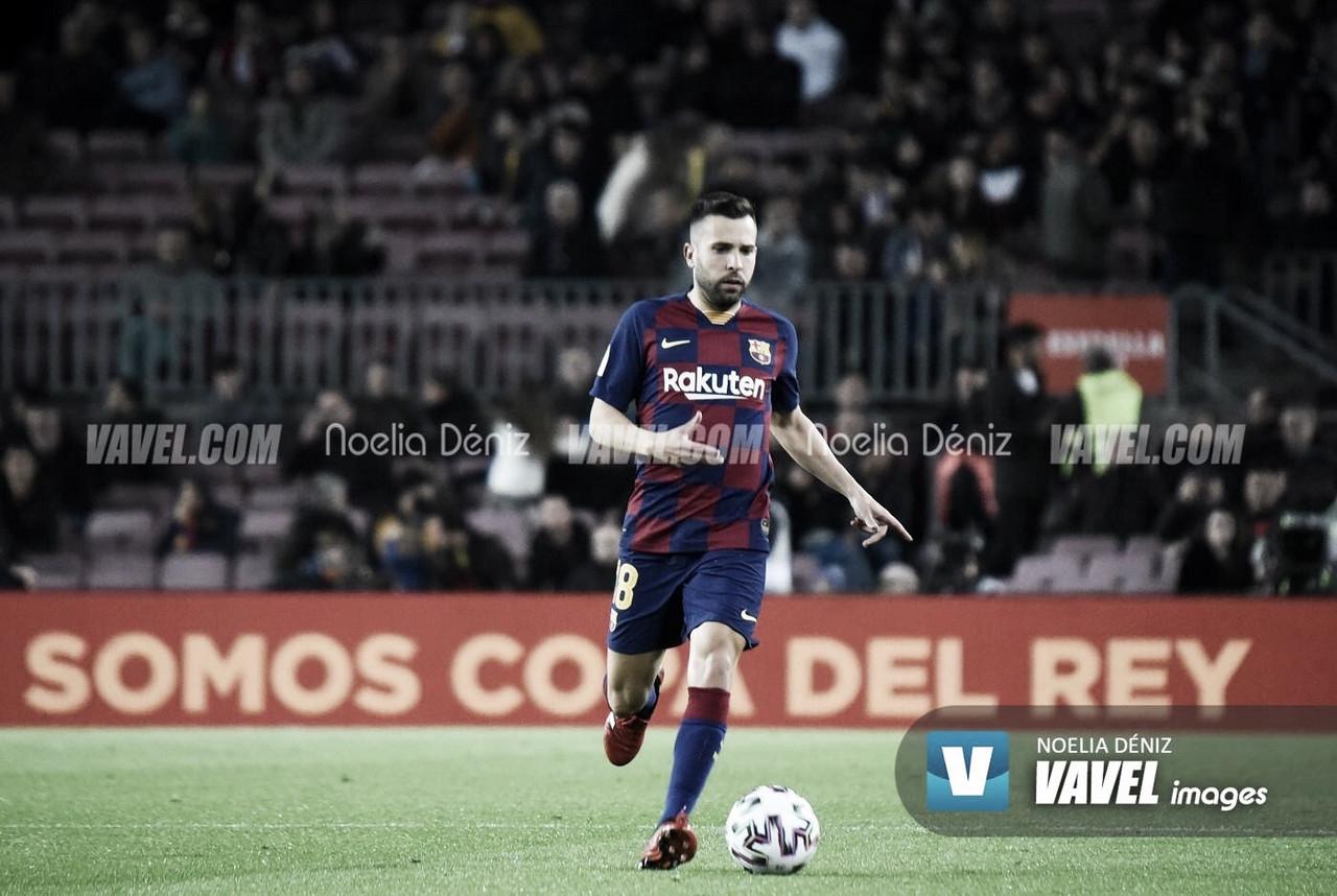 Jordi Alba, con una lesión en el aductor de la pierna derecha