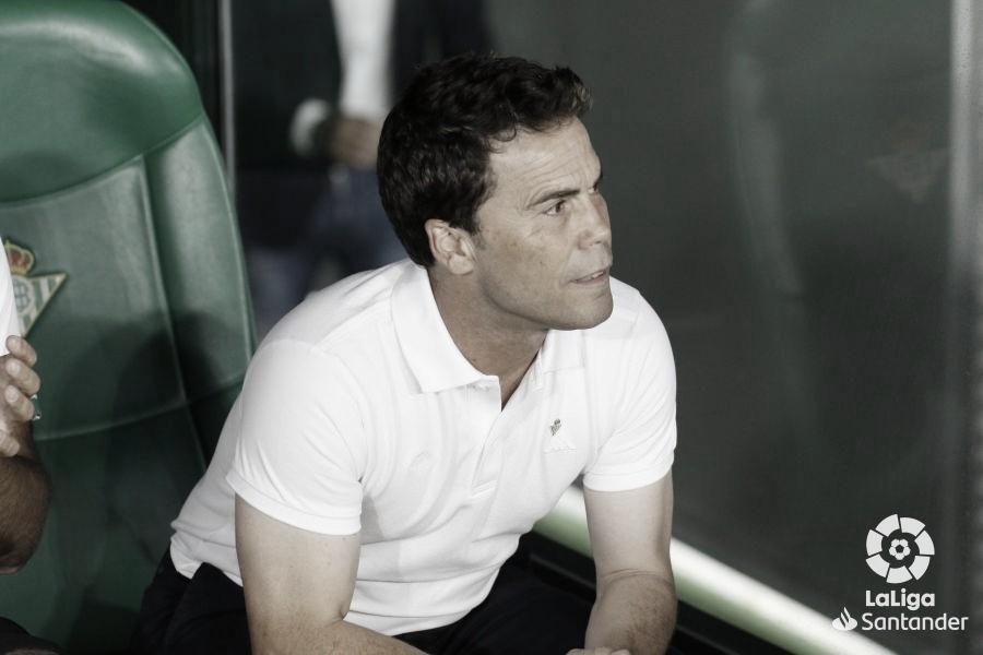 """Rubi: """"Cuando entremos en la regularidad de hacer once contra once, veremos a otro Betis"""""""