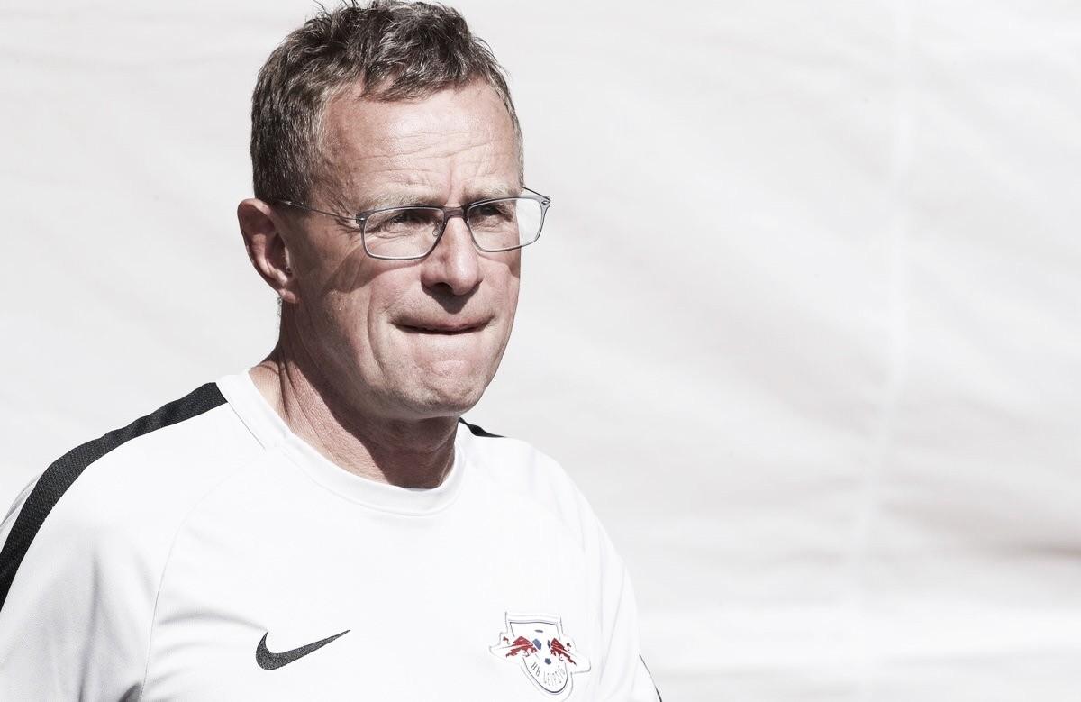"""Ralf Rangnick exalta vitória do RB Leipzig em partida na UEL: """"Altamente merecida"""""""