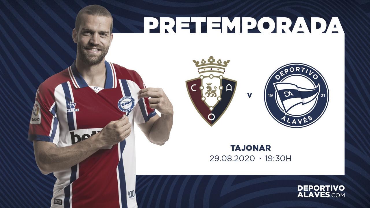 El Deportivo Alavés se desplazará hasta Tajonar para medirse a Osasuna