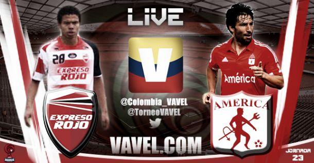 Resultado Expreso Rojo - América de Cali en el Torneo Águila 2015 (1-1)