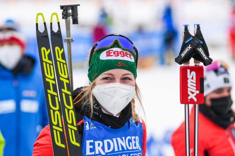 Première victoire en coupe du monde pour l'autrichienne Lisa Theresa Hauser.